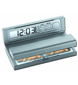 Natico Travel Pal Alarm Clock and Pill Box (10-405)