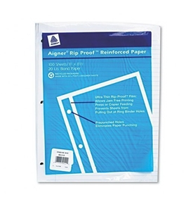 National Brand Filler Paper, Ruled 5/16, Mylar Reinforced, 11 x 8.5 Inches, 100 Sheets (20122)