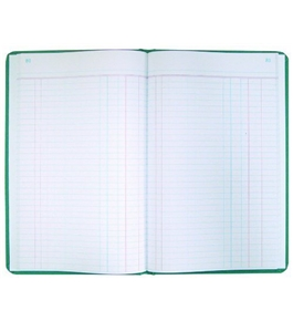 National Brand Record Book, Green Canvas, 12.125 x 7.625 Inches, 500 Pages (A66500R)