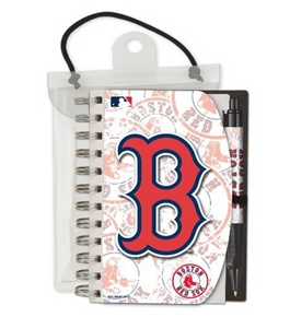 National Design Boston Red Sox Deluxe Hardcover 4 x 6-Inches Notebook and Grip Pen Set (12283-BPI)