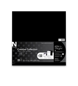 Neenah Creative Collection Classics Specialty Cardstock, 12 X 12 Inches, Eclipse Black, 35 Count (46315)