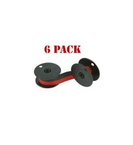 NEW Compatible Nukote BR80C Calculator Ribbon Black/Red (6-pack) For Sharp EL 1197 P III