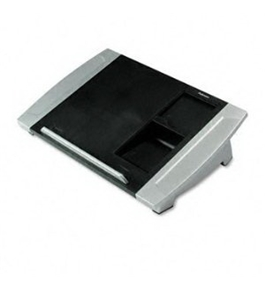 New-Fellowes 8031901 - Angle-Adjustable Telephone Stand, 15 1/2 x 10 5/8 x 4, Black/Silver - FEL8031901