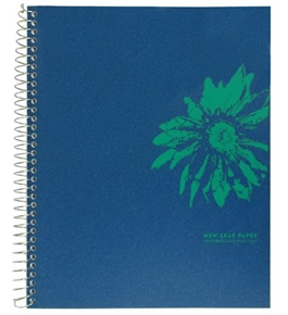 New Leaf Inside and Out Fashion Notebooks, Spiral-bound, 100% Recycled 1-Subject Notebooks, Color May