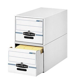"o Fellowes Inc o - Storage Drawers, Legal, 15-1/4""x23-1/2""x10-1/4"", 6/CT, WE/BE"