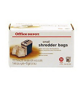Office Depot Small Shredder Bags (50 Count) 10 Gallon