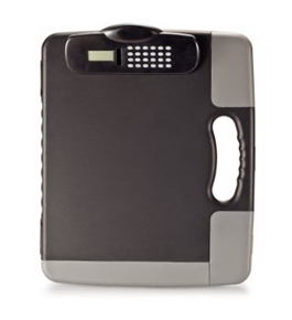 Officemate Portable Clipboard Storage Case with Calculator, Charcoal (83302)