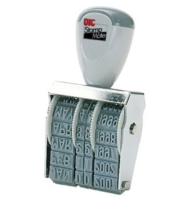 Officemate Stamp Line Dater with 6 Phrases, Size #2 (79006)