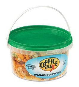 Office Snax OFX00053 All Tyme Favorite Nuts, Wasabi Party Mix, 10 oz Tub
