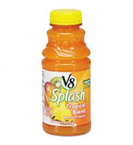 Office Snax OFX14654 V-8 Splash Tropical Blend 16 oz Bottle 12 Box