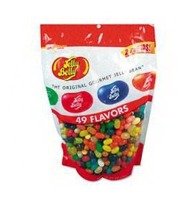 Office Snax OFX98475 Jelly Belly Candy 49 Assorted Flavors 2 lb Bag