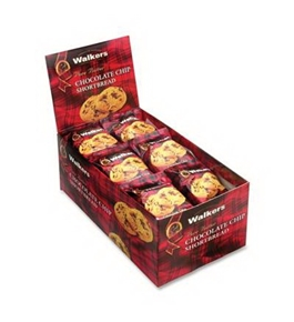 Office Snax OFXW536 Walkers Walker's Shortbread Cookies Chocolate Chip