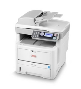 Okidata MB460 MFP (220V) Laser Printer, Fax, Copier & Scanner with Network Card - 62433102