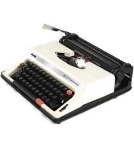 Olivetti MS25SP Model MS 25 Premier Plus Portable English/Spanish Manual Typewriter (12667X), 44 Keys