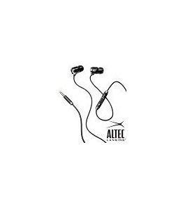 Original Altec Lansing 3.5mm Muzx Ultra Headphones with Inline Mic and iPhone Control Black MZX606CG for Apple tablet