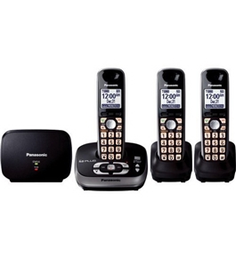 Panasonic KX-TG4053B DECT 6.0 PLUS Expandable Digital Cordless Phone with Answering System & Range Ext