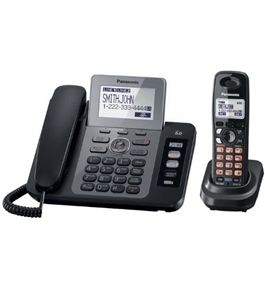 Panasonic KX-TG9471B 2-Line Corded/Cordless Phone with Digital Answering System and Contact Sync, Black, 1 Handset