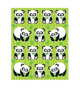 Pandas Shape Stickers; 84 per Pack; Multi-Colored; no. CD-168021