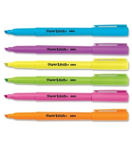 Paper Mate Intro Micro Chisel Tip Highlighters, 6 Colored Highlighters (22776PP)