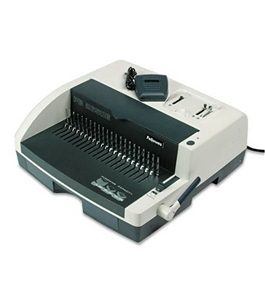 "PB2650E Comb Binding and Punch Combo System, 17-7/8"" Wide, Platinum/Charcoal FEL52151"
