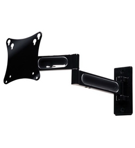 Peerless PA730 Articulating Wall Mount for 10 to 22 inches Displays Black