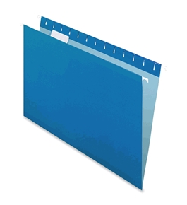 Pendaflex 415315BLU Hanging Folder, Reinforced, Blue, 1/5 Tab, Legal, 25 Per Box