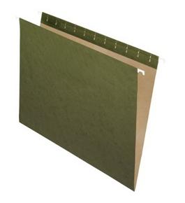 Pendaflex Essentials Hanging Folders, 25 Per Box, Straight Cut, Letter, Standard Green (81600)