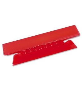 Pendaflex Hanging File Folder Tabs, 1/3 Tab, 3.5 Inch, Red Tab/White Insert, 25 per Pack (43-1/2-RED)
