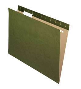 Pendaflex Recycled Standard Green 1/5-Cut Tab Hanging File Folders, 25 per Pack (81602)