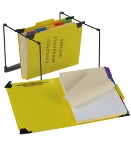 Pendaflex SER2YEL Hanging Personnel Folders, 1/3 Cut, Top Tab, Letter, Yellow