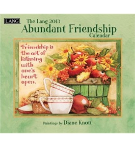 Perfect Timing - Lang 2013 Abundant Friendship Wall Calendar (1001545)