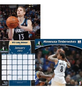 Perfect Timing - Turner 12 X 12 Inches 2013 Minnesota Timberwolves Wall Calendar (8011254)
