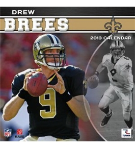 Perfect Timing - Turner 12 X 12 Inches 2013 New Orleans Saints Drew Brees Wall Calendar (8011161)