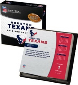 Perfect Timing - Turner 2013 Houston Texans Box Calendar (8051104)