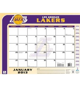Perfect Timing - Turner 2013 Los Angeles Lakers Desk Calendar, 22 x 17 Inches (8061211)