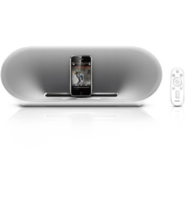 Philips Fidelio DS8500 Speaker Dock with Remote for iPod/iPhone (White/Silver)