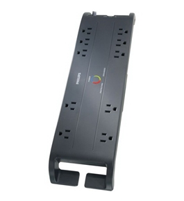 Philips SPP4107B/17 Home Office Surge Protector with 10 Outlets, 3200J