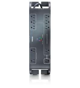 Philips SPP6105A/17 Home Office Surge Protector with 10 Outlets, 2160J