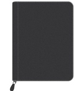 Pierre Belvedere Executive A4/Letter-Size Zip Portfolio, Refillable, Black (578790)