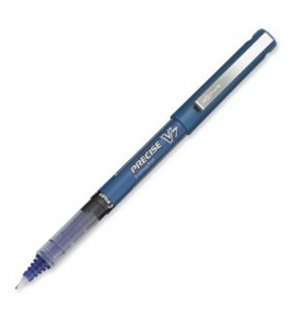 Pilot Precise V7 Stick Rolling Ball Pens, Fine Point, Blue Ink, Dozen Box (35349)