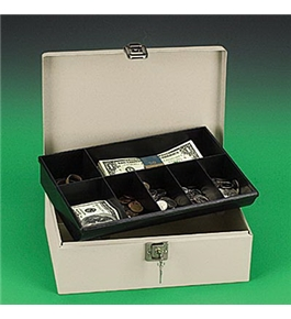 PMC04963 Lockn Latch Steel Cash Box, Pebble Beige, 11w x 7-3/4d x 4h