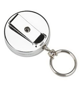 PMC04990 Pull Key Reel Wearable Key Organizer, Stainless Steel