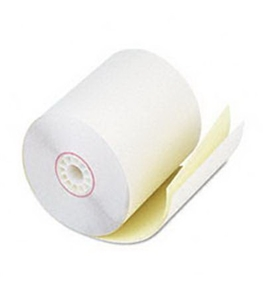 PMC08789 Perfection Two-Ply Pos/Cash Register Rolls - White/Canary