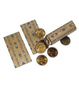 PMC53200 Tubular Coin Wrappers Dollar Coins $25, Pop-Open Wrappers