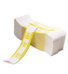 PMC55031 Color-Coded Kraft Currency Straps $10 Bill $1000, Self-Adhesive