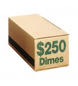 PMC61010 Corrugated Coin Storage Boxes Hold $250 in Dimes