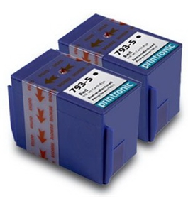 Printronic 793-5 replacement ink for Pitney Bowes 793-5 Compatible Remanufactured Combo Pack - 2 Red Ink Cartridges