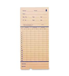 PTI 41473 Time Cards, 100 Pack