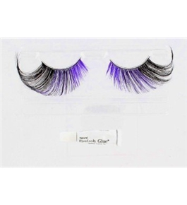 Purple Moon Feathered, Glamour Eyes Halloween Costume Eyelashes Accessory