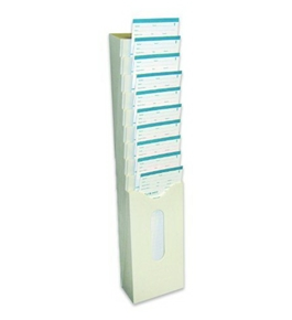 Pyramid 10 Capacity Plastic Card Rack for Time Clock Model 2400 Cards (42475)